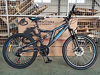"""Велосипед гірський двопідвісний Dinamic 26"""" GFRD рама 18,5"""", чорно -синій, фото 1"""