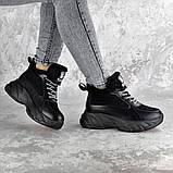 Кроссовки женские зимние Fashion Freewill 2359 37 размер 24 см Черный, фото 2