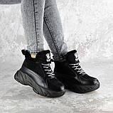 Кроссовки женские зимние Fashion Freewill 2359 37 размер 24 см Черный, фото 3