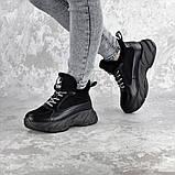 Кроссовки женские зимние Fashion Freewill 2359 37 размер 24 см Черный, фото 4