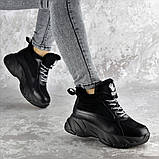 Кроссовки женские зимние Fashion Freewill 2359 37 размер 24 см Черный, фото 6