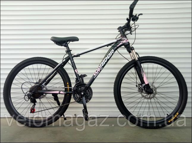"""Велосипед горный TopRider-611 26"""" розовый"""