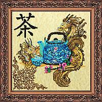 """Набор для вышивания бисером на художественном холсте """"Китайское чаепитие"""""""