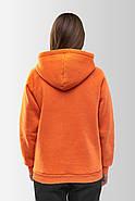 Худи утепленный Vsetex Warm Оранжевый, фото 7