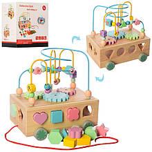 2438 Деревянная игрушка Центр развивающий MD лабиринт на провол,сортер,шестерен,кор,