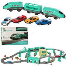 6884 Железная дорога, локомотив, вагоны, машинки, фигурка, станция,92д,2вида, в кор-ке, 52-35-8см