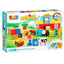 5310 Конструктор JDLT 5310 (12шт) ферма, животные, фигурка, карточки, 51дет, в кор-ке, 45-33-9,5см
