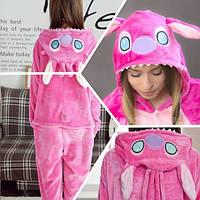 Пижама Кигуруми для взрослых стич розовый S на рост 145-155 см
