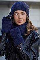 Комплект шапка, шарф-хомут и перчатки