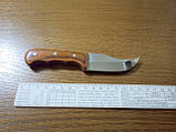Стильный компактный нож K65 с чехлом и деревянной ручкой, фото 2