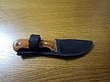 Стильный компактный нож K65 с чехлом и деревянной ручкой, фото 3