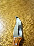 Стильный компактный нож K65 с чехлом и деревянной ручкой, фото 4
