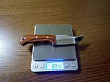 Стильный компактный нож K65 с чехлом и деревянной ручкой, фото 5