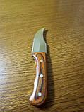 Стильный компактный нож K65 с чехлом и деревянной ручкой, фото 6