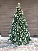 Новогодняя искусственная елка с шишками высотой 2.20 м