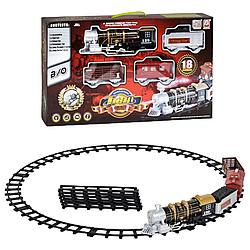 Железная дорога с дымом, свет, звук, 18 элементов