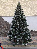 Новогодняя искусственная елка с шишками высотой 1.80 м