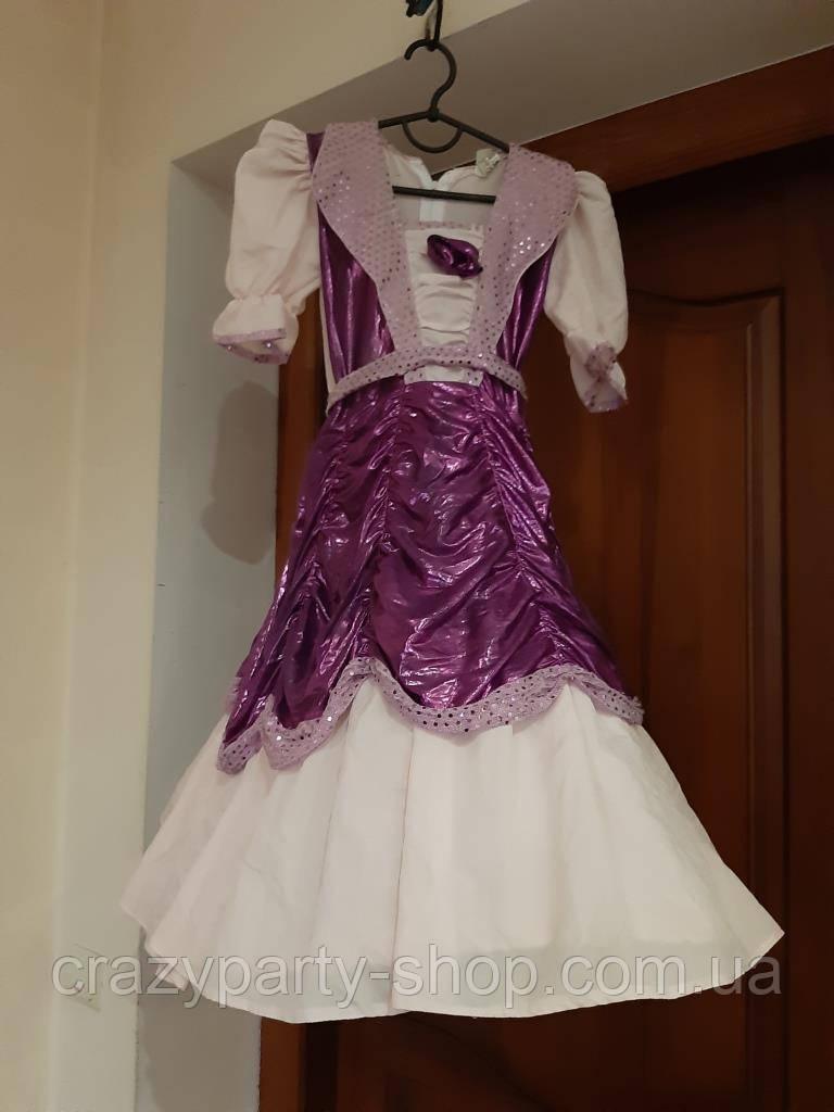 Костюм карнавальный бальное платье принцесса,  110-116 см лет б/у
