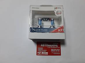 Лампа галогенна MTA SUPER WHITE H7 12 55 +50% к-т