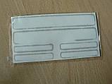 Наклейка s маленькая Mitsubishi серебристая набор 6шт силиконовая на авто Уценка поднимается эмблема Митсубиши, фото 3