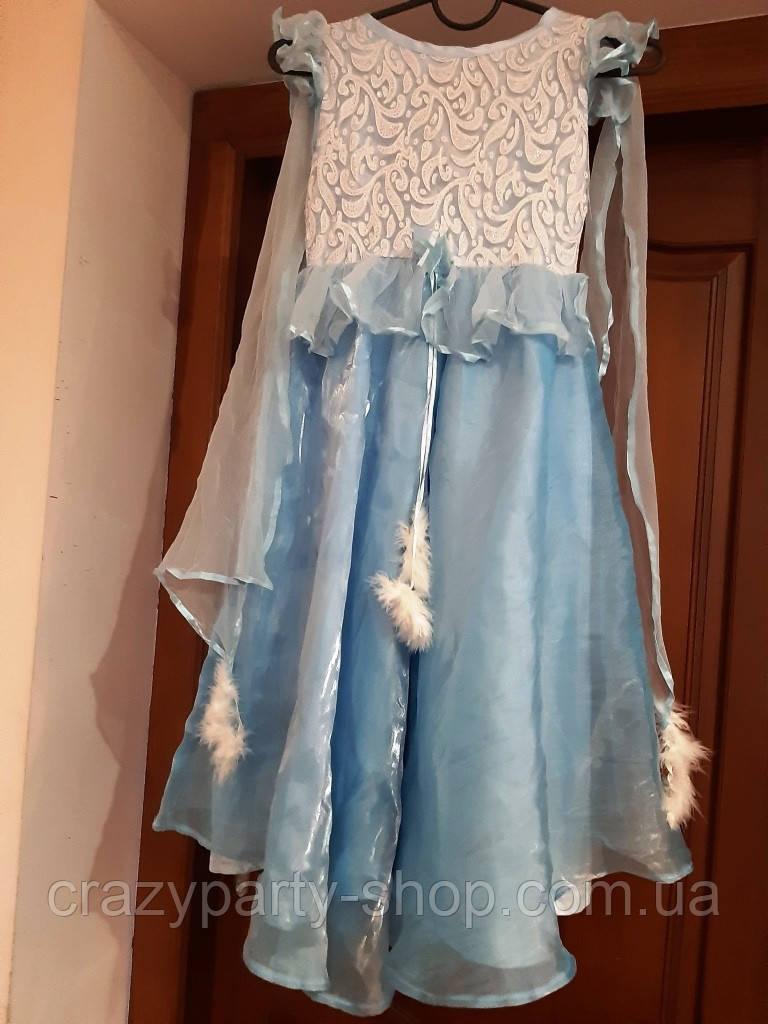 Костюм карнавальный бальное платье принцесса,  Эльза 110-116 см б/у