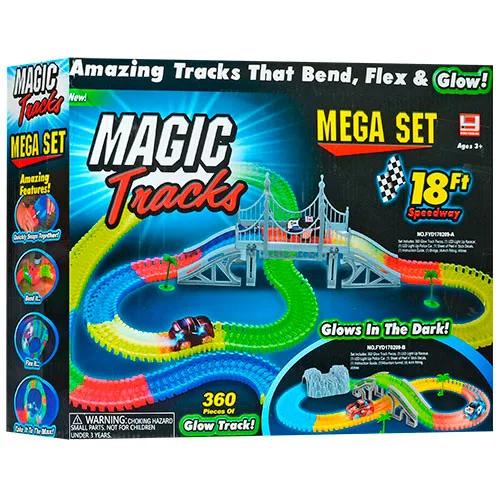 Magic Tracks 360 светящийся трек меджик трек 360 деталей
