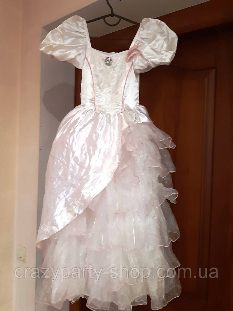 Костюм карнавальный бальное платье пышное принцесса,  122-128 см лет б/у