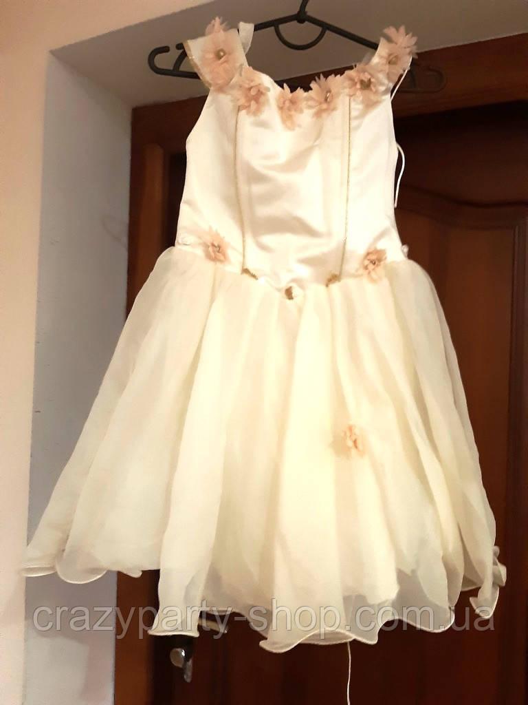 Костюм карнавальный бальное платье принцесса,  110-116 см б/у