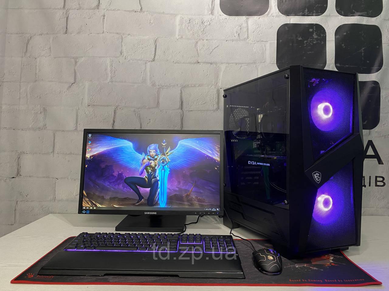 Игровой компьютер Ryzen 5 2600 + NVIDIA GTX 1060 6Gb + RAM 16gb + HDD 1000Gb + SSD 240