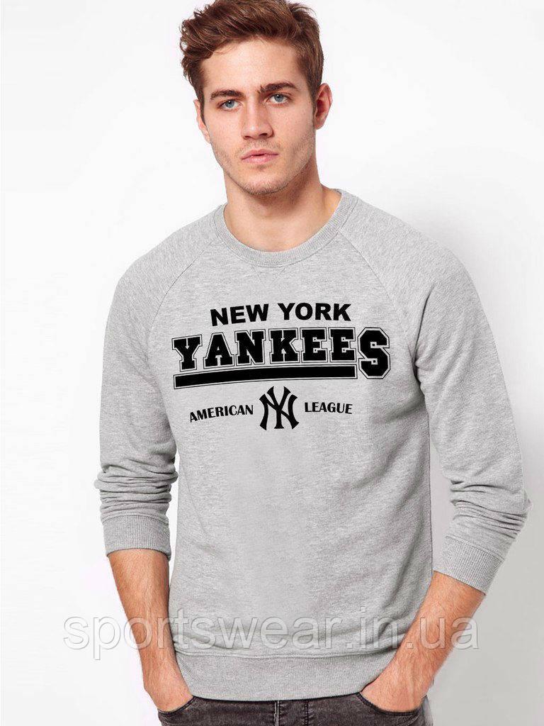 Свитшот серый New York Yankees