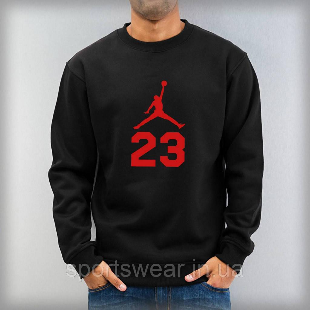 Свитшот черный Jordan ( Джордан ) 23 ( красное лого )