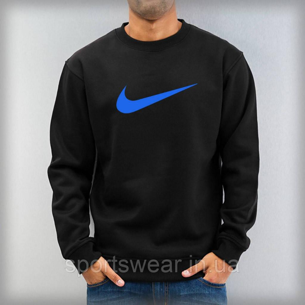 """Світшот чорний Nike ( Найк ) ( синій лого ) """""""" В стилі Nike """""""""""