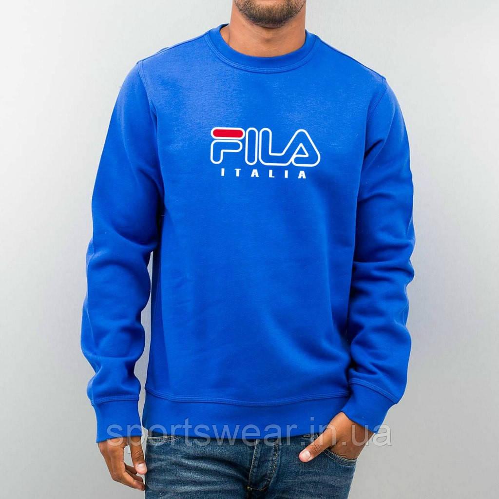 Свитшот ярко-синий FILA ( Фила )