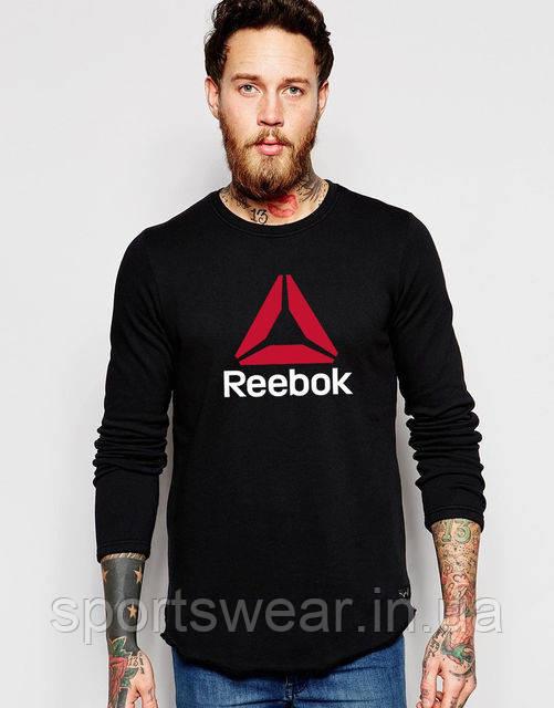 Свитшот чёрный REEBOK ( Рибок ) ( большое лого )