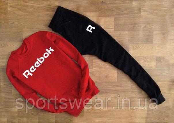 """Чоловічий спортивний костюм Reebok червоний світшот """""""" В стилі Reebok """""""""""