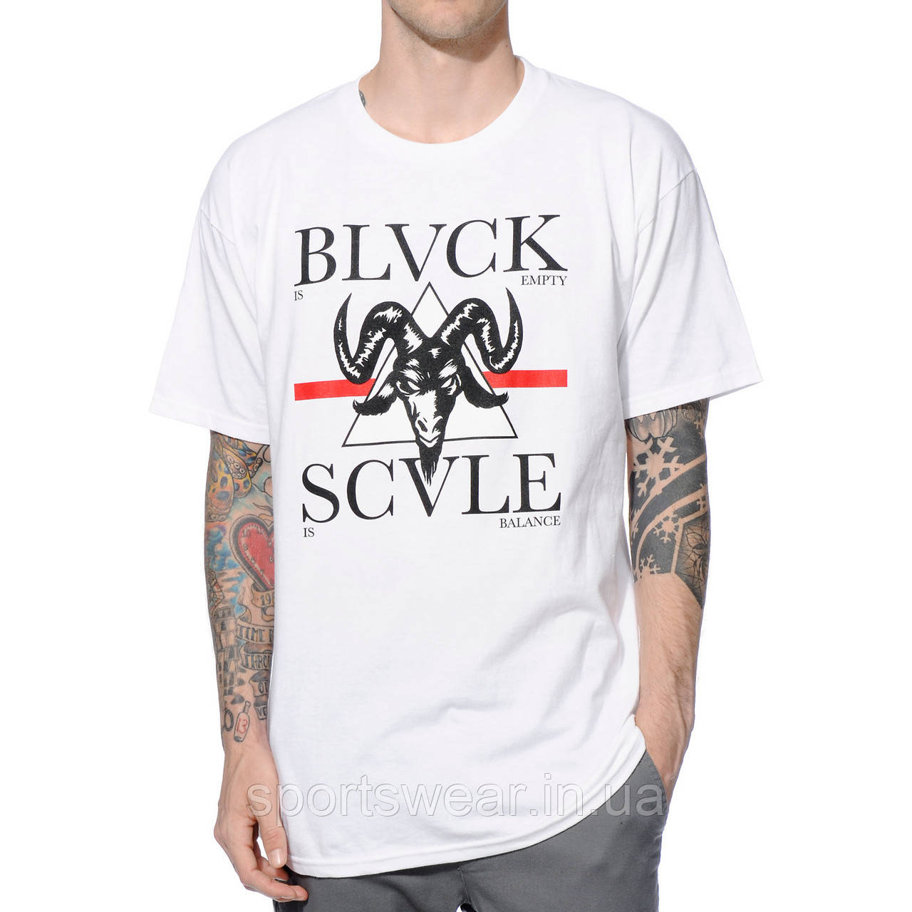 Футболка мужская белая Black Scale Proud