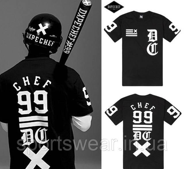 Мужская Футболка черная CHEF 99 DOPE