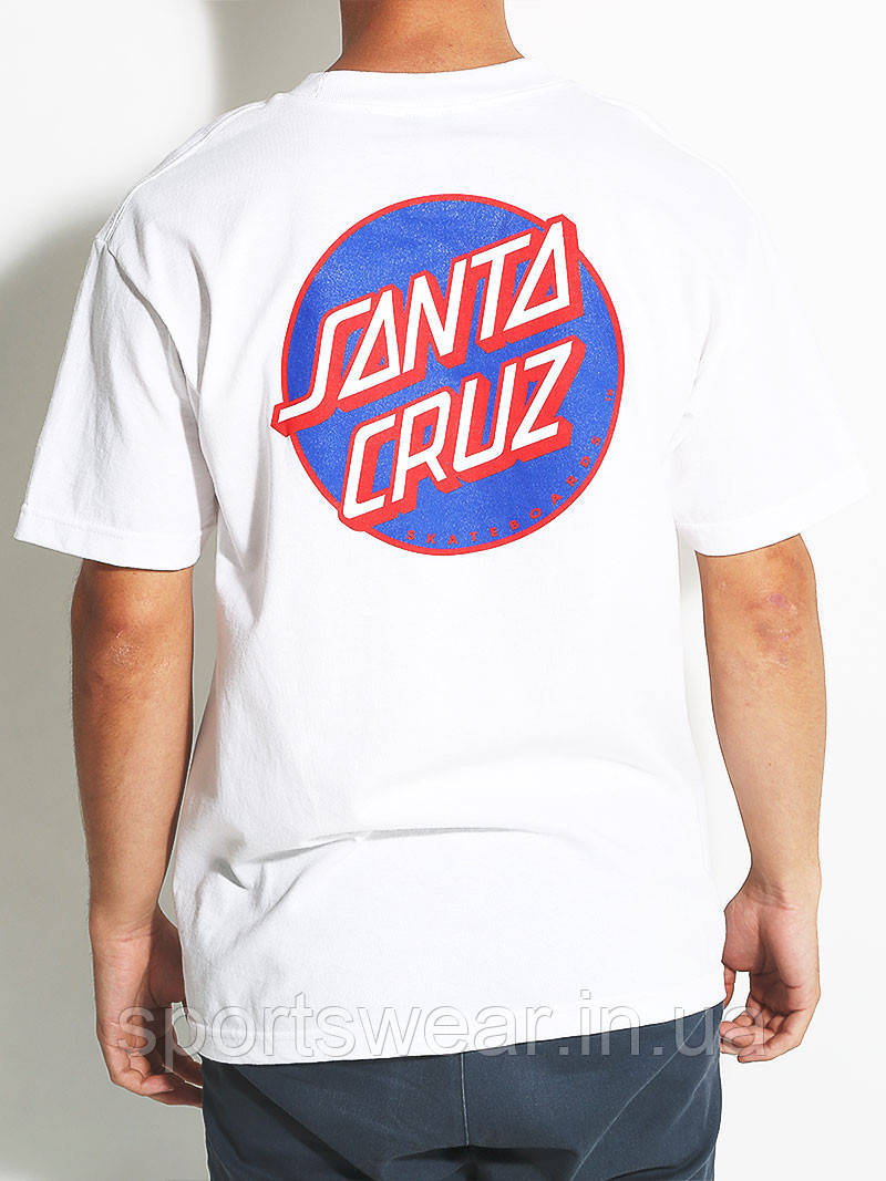 Футболка белая Santa Cruz Original logo мужская