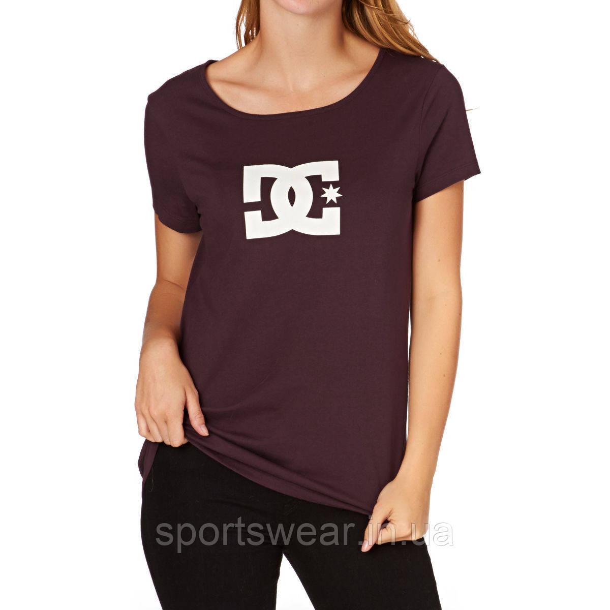 Футболка бордовая DC Logo женская