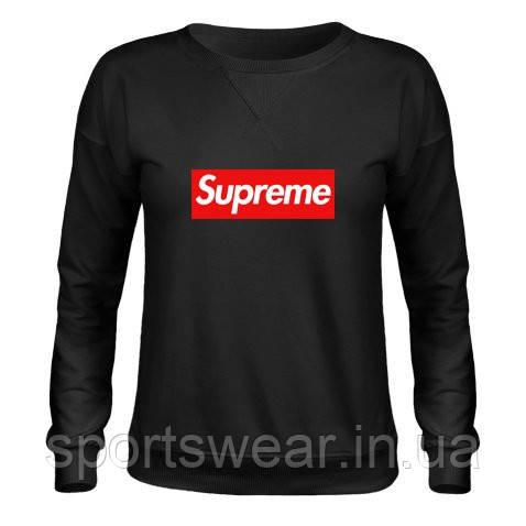 Свитшот чёрный с логотипом Supreme
