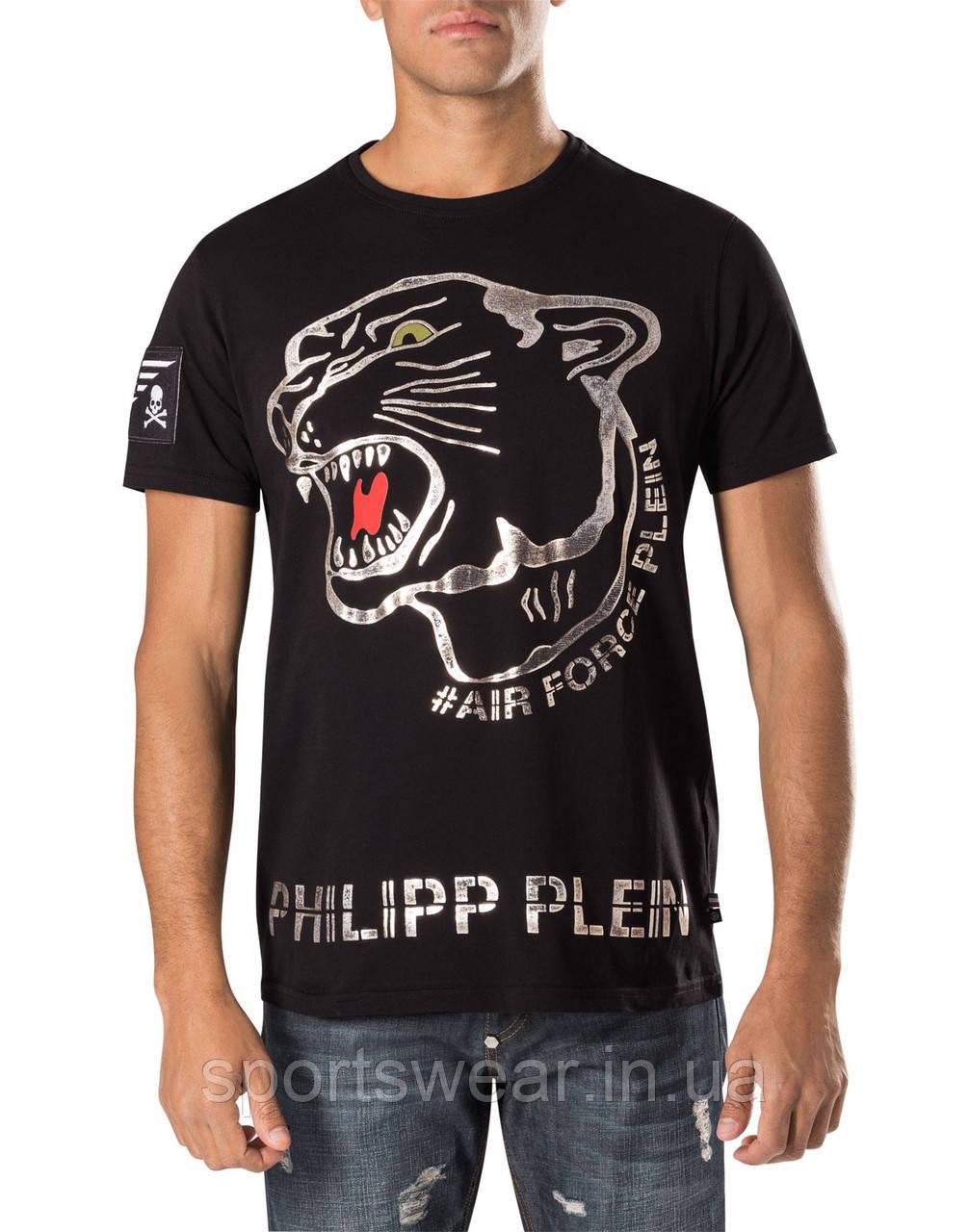 Футболка коричневая Philipp Plein Air Force мужская