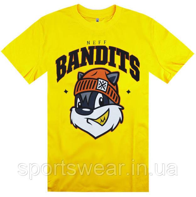 Футболка желтая Neff Bandits мужская