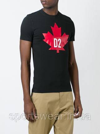 Мужская черная Футболка DSQUARED2 Canada D2