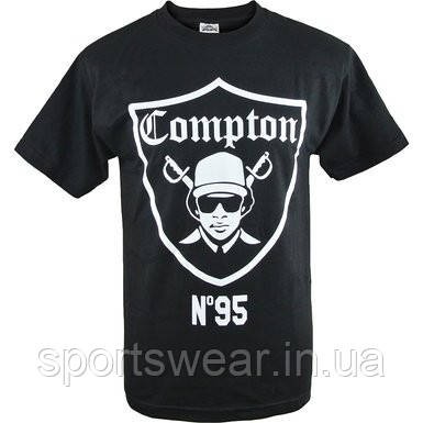 Мужская черная Футболка Compton №95