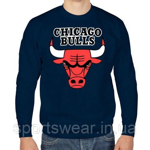Свитшот синий мужской Chicago Bulls Чикаго | Кофта