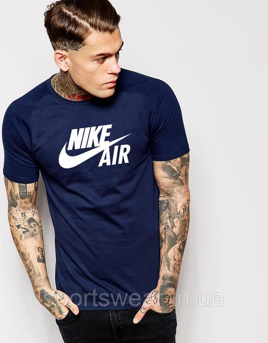 Футболка темно-синяя Nike | Найк Air