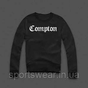 Свитшот черный мужской COMPTON | Кофта