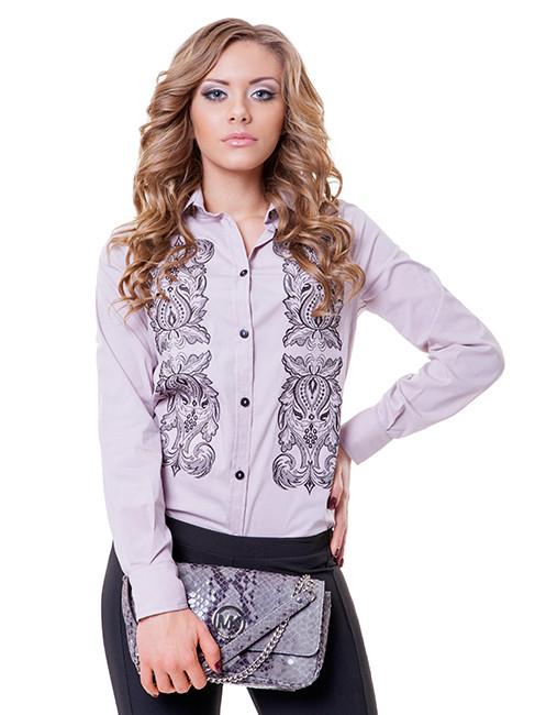 Стильная женская рубашка с вышивкой (размеры S-2XL в расцветках)