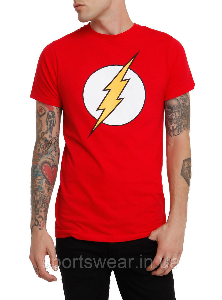 Футболка красная мужская Flash Lighting