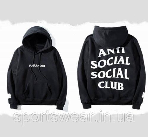 "Толстовка Anti Social social club Paranoid Женская   БИРКА   Толстовка АССК ""В стиле Anti Social Social Club"""